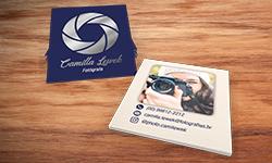 Mini Cartão Verniz Localizado e Hot Stamping
